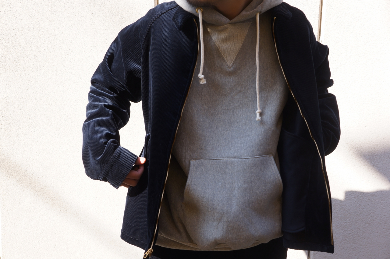 BONCOURA - SWEAT TRAINER & PARKA & MOLESKIN BAKER PANTS -