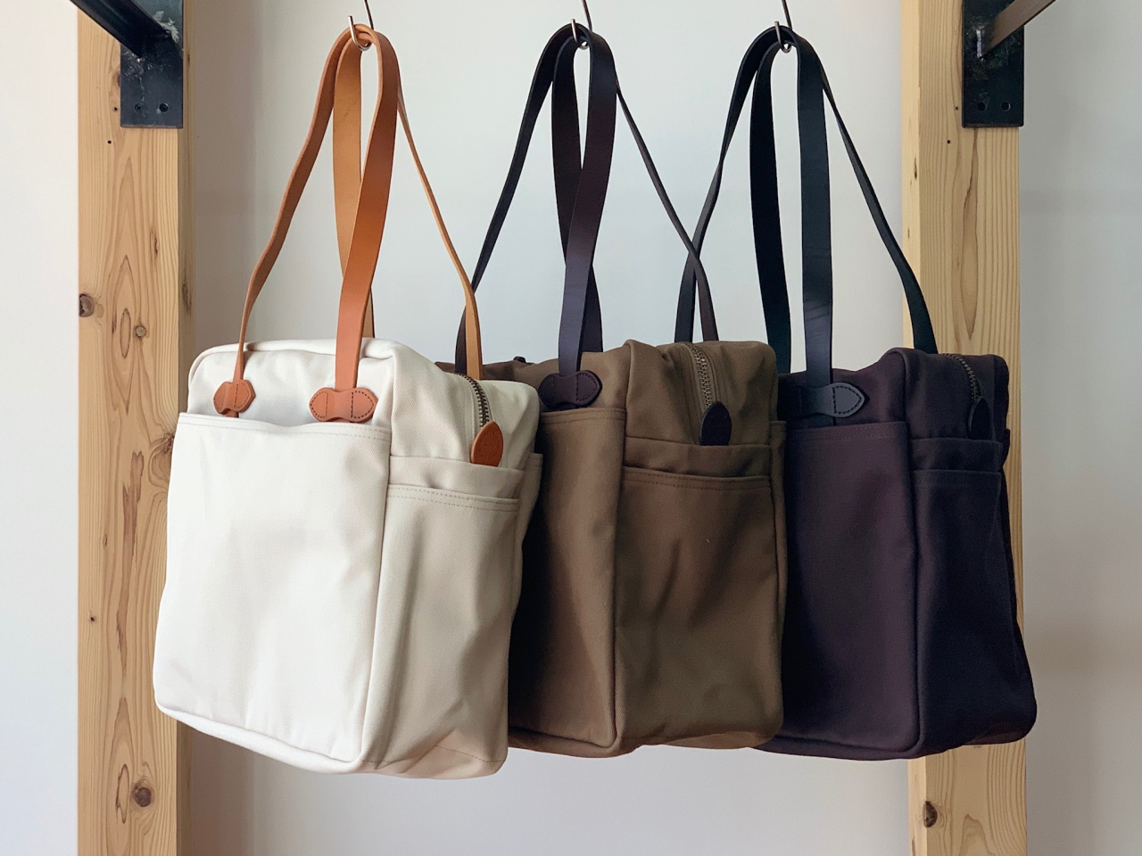 FILSON - TOTE BAG WITH ZIPPER・WITHOUT ZIPPER -
