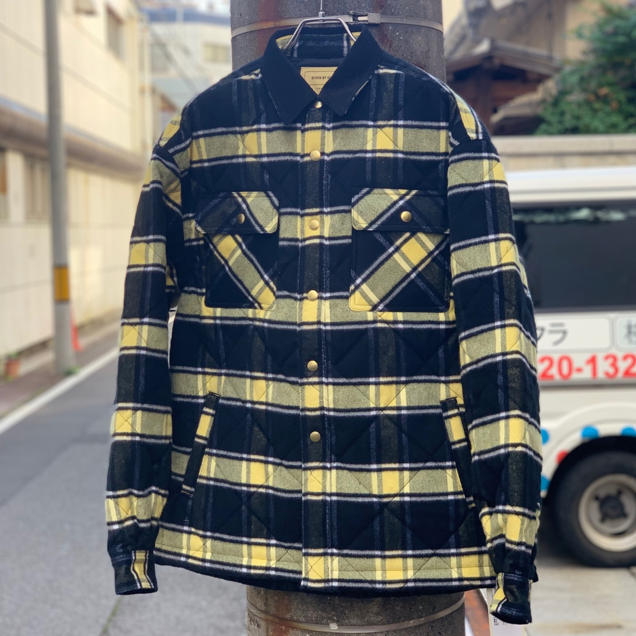 """SEVEN BY SEVEN - QUILTING BLOUSON """" Brushed check """" -"""